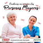 CCOO y AESTE piden mayor reconocimiento social y profesional para las gerocultoras que CUIDAN CON CORAZÓN a las personas mayores