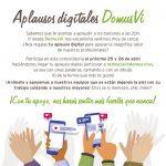 DomusVi anima a familiares a aplaudir a trabajadores de residencias con la campaña Aplausos digitales