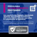 Proquimia presenta un distintivo para establecimientos protegidos contra la COVID-19