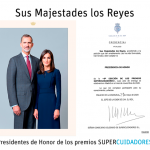 Sus Majestades los Reyes serán los Presidentes de Honor de los Premios SUPERCUIDADORES 2020