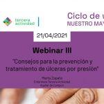 Nuevo webinar gratuito de Tercera Actividad sobre prevención y tratamiento de úlceras por presión